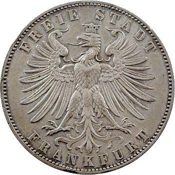 Allemagne, Francfort (ville libre de), thaler d'hommage, 1862 Francfort