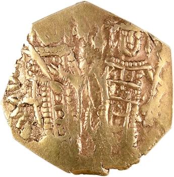 Andronique III et Anna de Savoie, hyperpyron (scyphate), Constantinople, 1328-1341