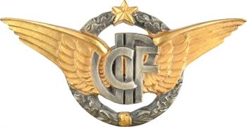 Aviation, badge / plaque de la C.F.P.J., s.d