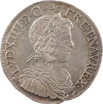Louis XIV, demi-écu à la mèche longue, 1658 Tours