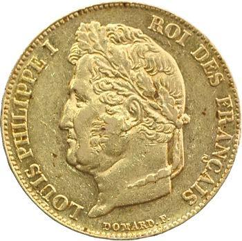 Louis-Philippe Ier, 20 francs Domard, 1844 Paris