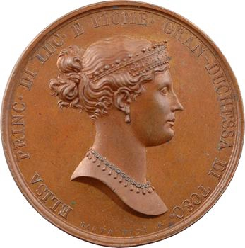 Italie, Elisa Bonaparte et Félix Baciocchi, Elisa nommée Grande Duchesse de Toscane, par Santarelli, 1809