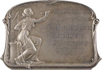 IIIe République, plaquette de noces d'or, par A. Sales, 1860-1910