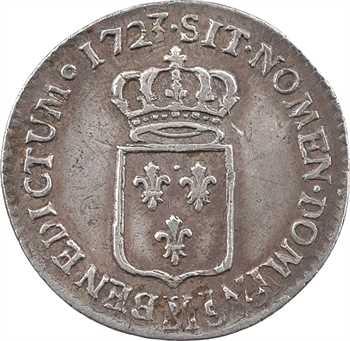 Louis XV, sixième d'écu de France, 1723 Troyes