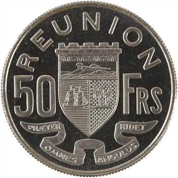 Réunion, essai de 50 francs, 1962 Paris (boîtier)