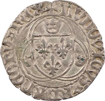 Louis XI, blanc à la couronne, FRANCORV et NOME, 2e émission, Troyes