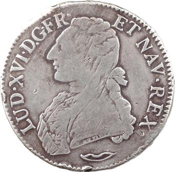 Louis XVI, écu aux branches d'olivier, 1777 Aix-en-Provence