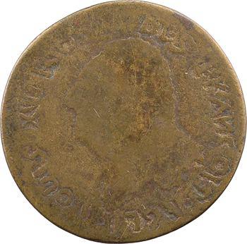 Saint Domingue, sou, imitation du 30 sols FRANÇOIS, 1791 (1793-1801) [Paris]
