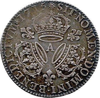 Louis XV, quart d'écu aux trois couronnes, 1715 Paris