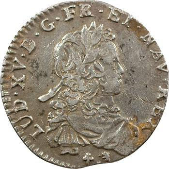 Louis XV, sixième d'écu de France, 1721 Orléans