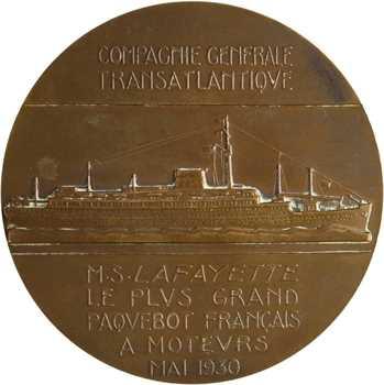 Compagnie Générale Transatlantique, le paquebot Lafayette, version française, par Delannoy, 1930 Paris