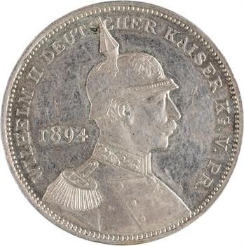 Allemagne (Empire d'), réconciliation de Guillaume II et de Bismarck, thaler de souvenir, 1894 Nuremberg