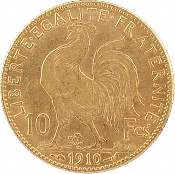 IIIe République, 10 francs Marianne, 1910 Paris