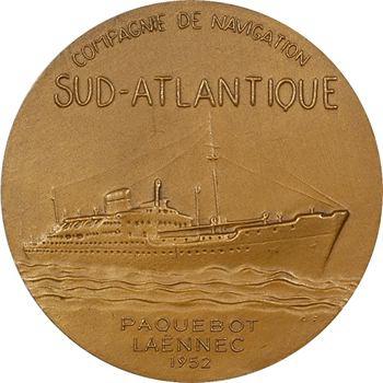 IVe République, Compagnie de navigation sud-atlantique, le paquebot Laënnec, par Fraisse, 1952 Paris
