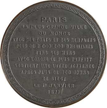 IIIe République, plus de 100 jours du Siège de Paris, 1871