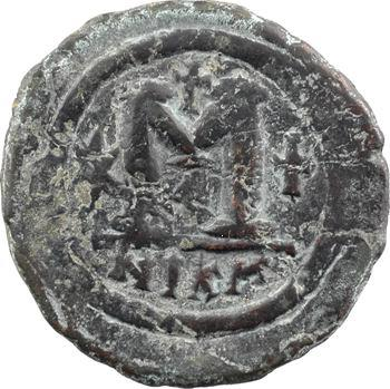 Justinien Ier, follis, Nicomédie, 1re officine, s.d. (527-538)