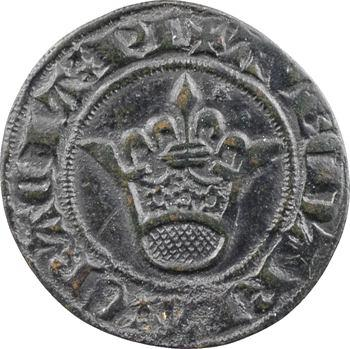 Moyen-Âge, jeton de compte à la couronne, s.d