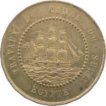 Suez (canal de), 1 franc Borel, Lavalley et Compagnie, 1865
