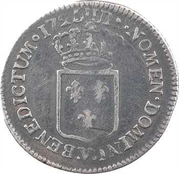 Louis XV, tiers d'écu de France, 1720 Troyes