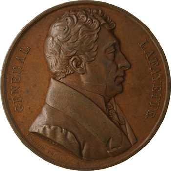 États-Unis, La Fayette, défenseur de la Liberté, par Caunois, 1824 Paris