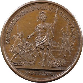 Louis XV, rétablissement des compagnies de cadets, 1727