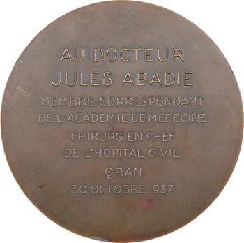 Algérie, Oran, Dr J. Abadie, chirurgien chef de l'hôpital d'Oran, 1937