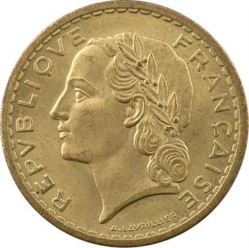 Gvt provisoire, 5 francs Lavrillier bronze-aluminium, 1946 Castelsarrasin