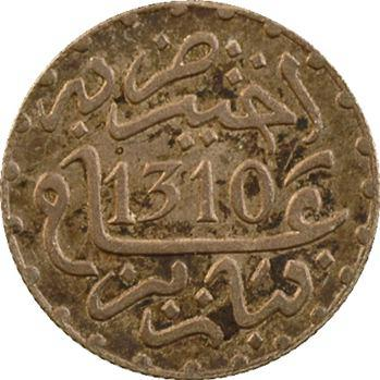 Maroc, Hassan Ier, 1/2 dirham, AH 1310 (1892) Paris