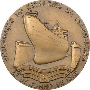 Portugal, inauguration du chantier naval de Lisnave, par L. de Almeida, 1967