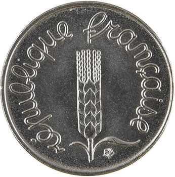 Ve République, 1 centime épi avec rebord, 1974 Paris
