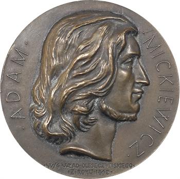 Pologne, centenaire de la mort d'Adam Mickiewicz, N° 89, 1955 Paris