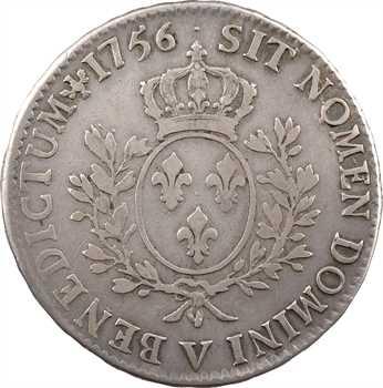 Louis XV, écu au bandeau, 1756 Troyes
