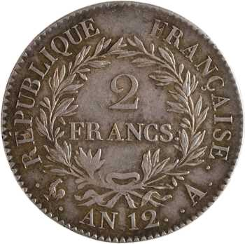 Consulat, 2 francs, An 12 Paris