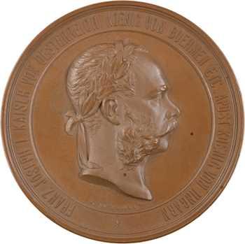 Autriche, François Joseph Ier, exposition internationale de Vienne, par Tautenheyn et Schwenzer, 1873