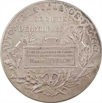 Automobile : Automobile Club de France, Club de la Pédale de Cannes (à Marius Terlon), par Daniel-Dupuis, 1902 Paris