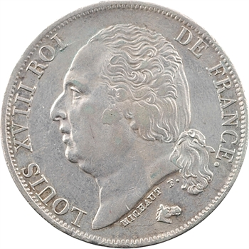 Louis XVIII, 1 franc, 1816 Paris