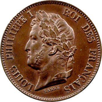 Louis-Philippe Ier, essai de 5 centimes, refonte des monnaies de cuivre, s.d.