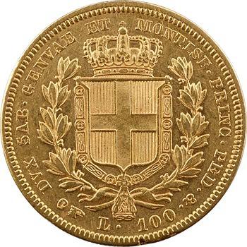 Italie, Savoie-Sardaigne, Charles-Albert, 100 lire, 1835 Turin