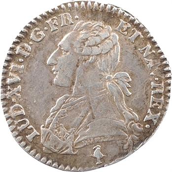 Louis XVI, dixième d'écu aux branches d'olivier, 1781/0, 1er semestre, Paris