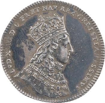 Louis XIV, sacre à Reims le 7 juin 1654, LUTTON, argent, 1654 Paris
