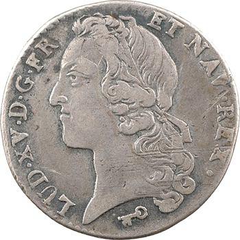 Louis XV, cinquième d'écu au bandeau, 1741 Reims