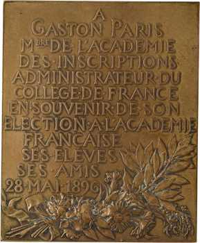 Chaplain (J.-C.) : Gaston Paris à l'Académie Française, fonte, 1897 Paris