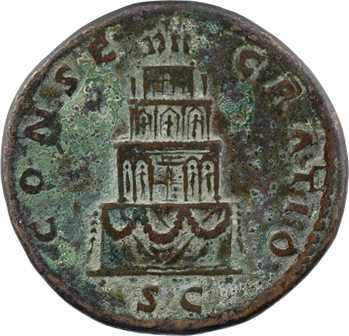 Divin Antonin, sesterce (tête laurée), Rome, après 161 (consécration de Marc Aurèle)