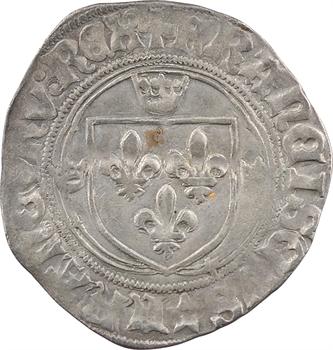 François Ier, grand blanc à la couronne 1er type, Troyes