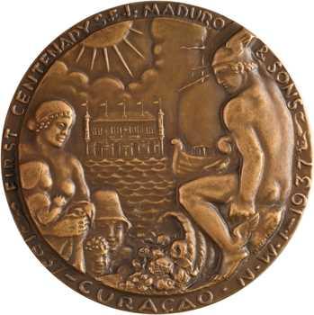 Curaçao, centenaire des établissements Maduro, par Ruotolo, 1837-1937