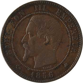 Second Empire, dix centimes tête nue, 1856 Bordeaux
