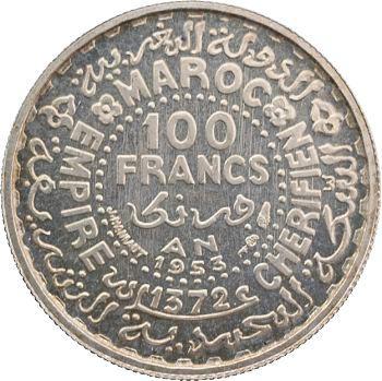Maroc, IVe République, Mohammed V, essai de 100 francs, 1953/1372, Paris