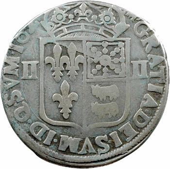 Louis XIII, quart d'écu de Béarn, 162[?] Morlaàs
