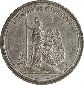États-Unis (indépendance des), le Traité de Paris, médaille LIBERTAS AMERICANA, par Johann Leonhard Oexlein, 1783 Nuremberg ?