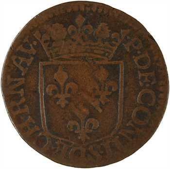 Ardennes, Château-Regnault (principauté de), François de Bourbon, liard 3e type, 1614 Château-Regnault